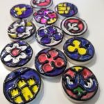 Largess Derby: Stained Glass Ceramic Pendants